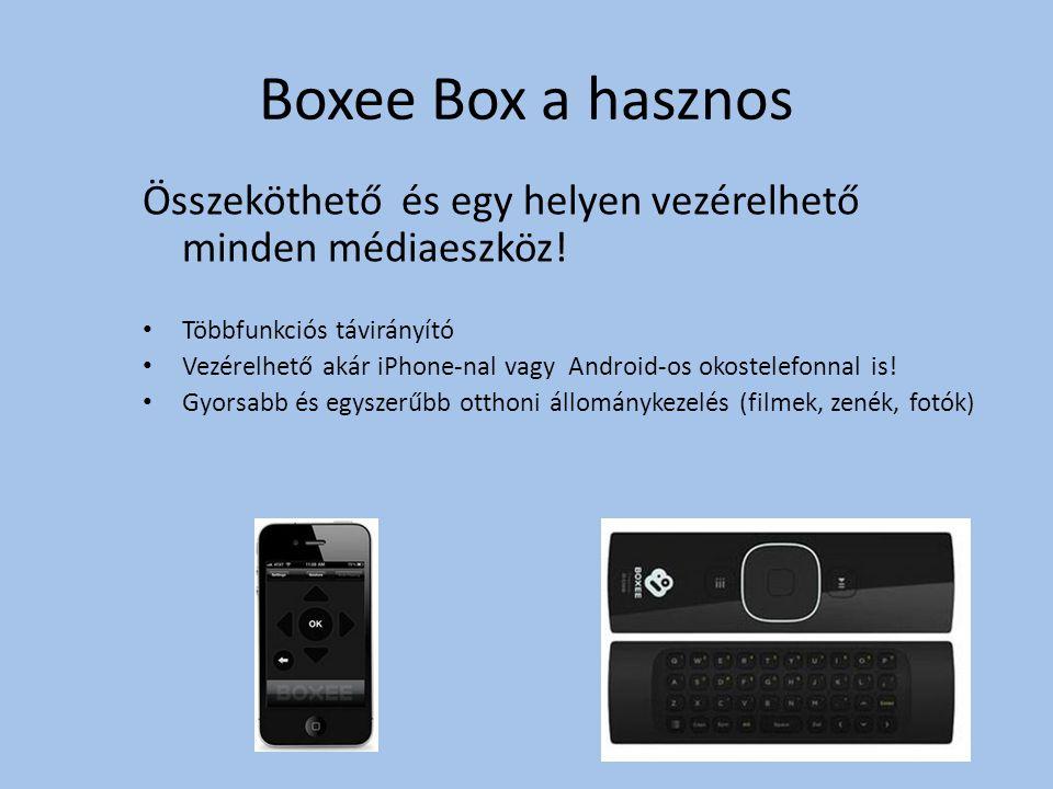 Boxee Box a hasznos Összeköthető és egy helyen vezérelhető minden médiaeszköz.