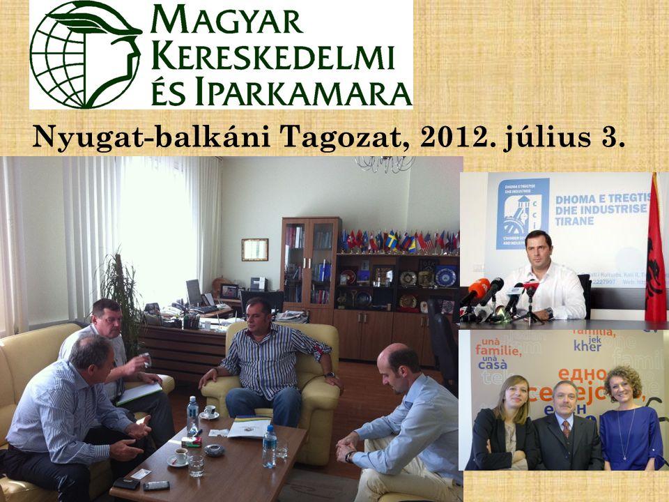 Nyugat-balkáni Tagozat, 2012. július 3.
