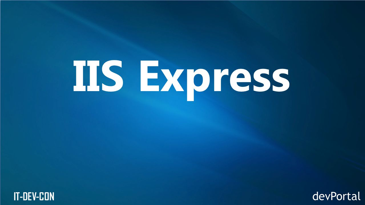 IT-DEV-CON IIS Express