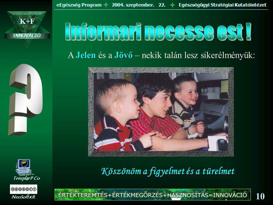 eEgészség Program 2004.szeptember. 22.