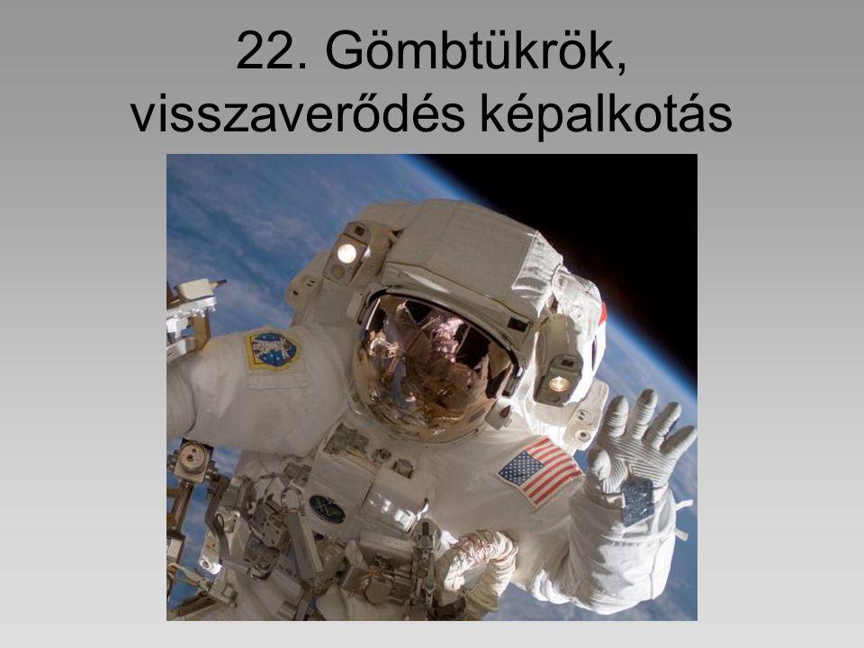 22. Gömbtükrök, visszaverődés képalkotás