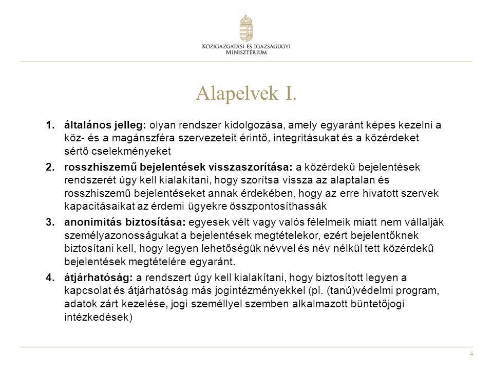 5 Alapelvek II.