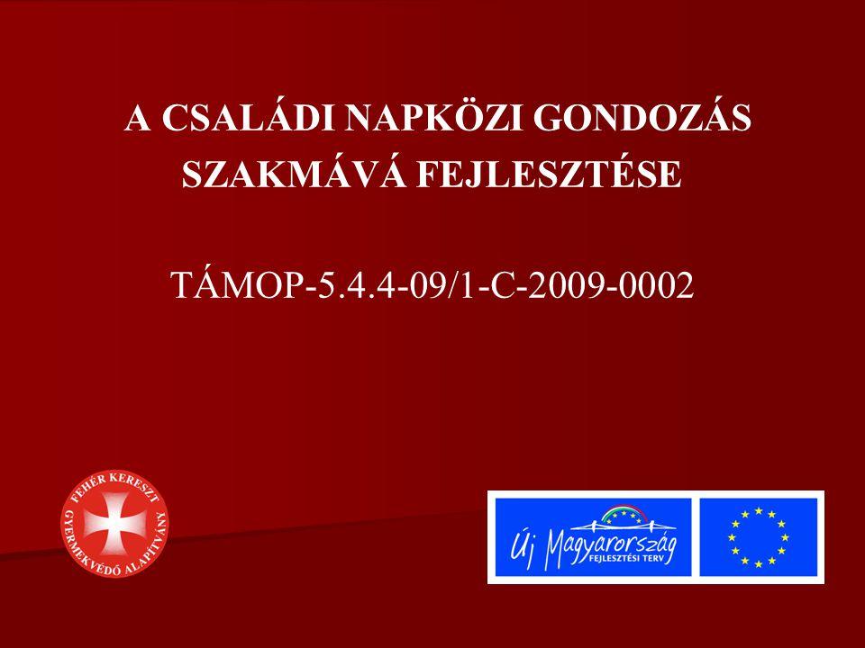 A CSALÁDI NAPKÖZI GONDOZÁS SZAKMÁVÁ FEJLESZTÉSE TÁMOP-5.4.4-09/1-C-2009-0002