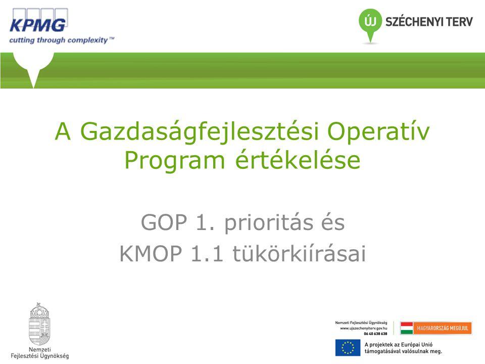A Gazdaságfejlesztési Operatív Program értékelése GOP 1. prioritás és KMOP 1.1 tükörkiírásai