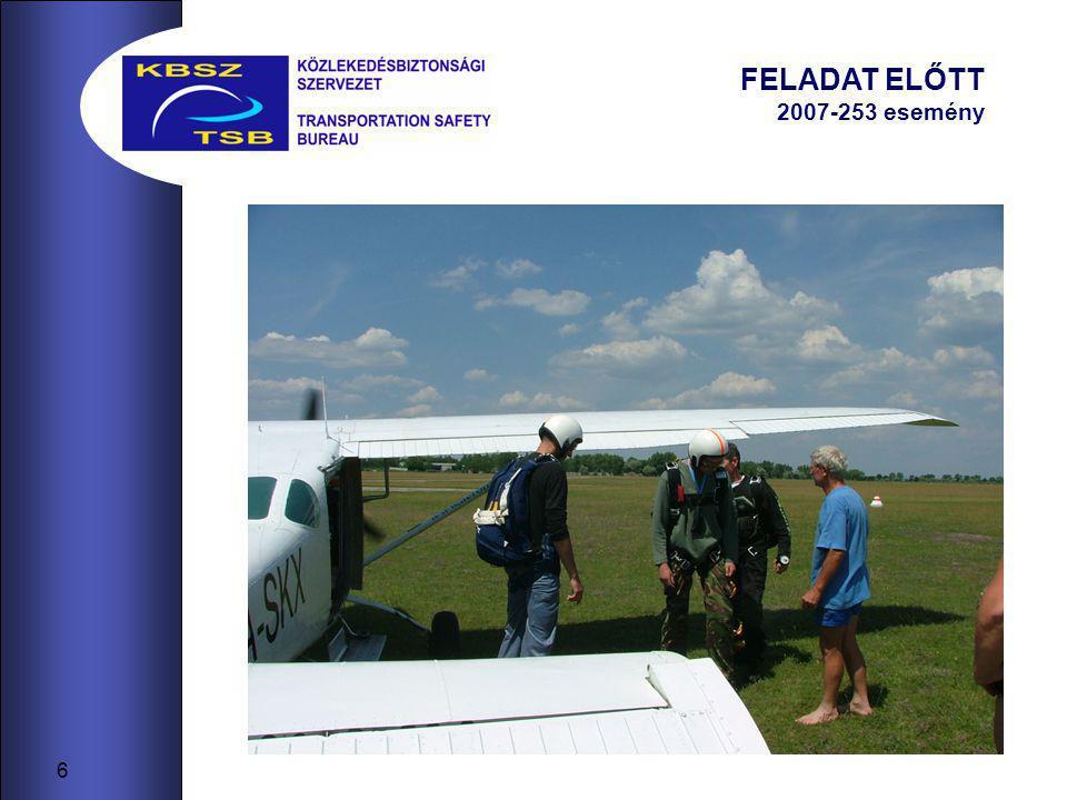 6 FELADAT ELŐTT 2007-253 esemény