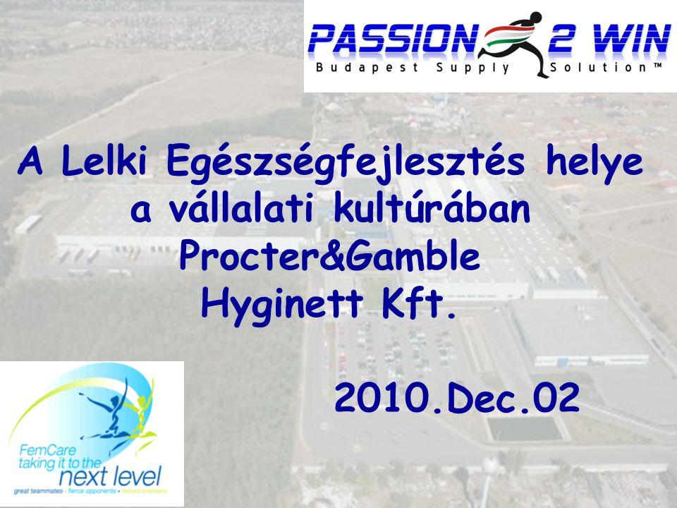 A Lelki Egészségfejlesztés helye a vállalati kultúrában Procter&Gamble Hyginett Kft. 2010.Dec.02