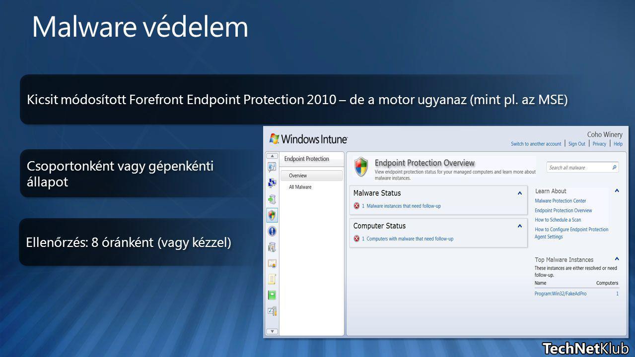 Kicsit módosított Forefront Endpoint Protection 2010 – de a motor ugyanaz (mint pl.