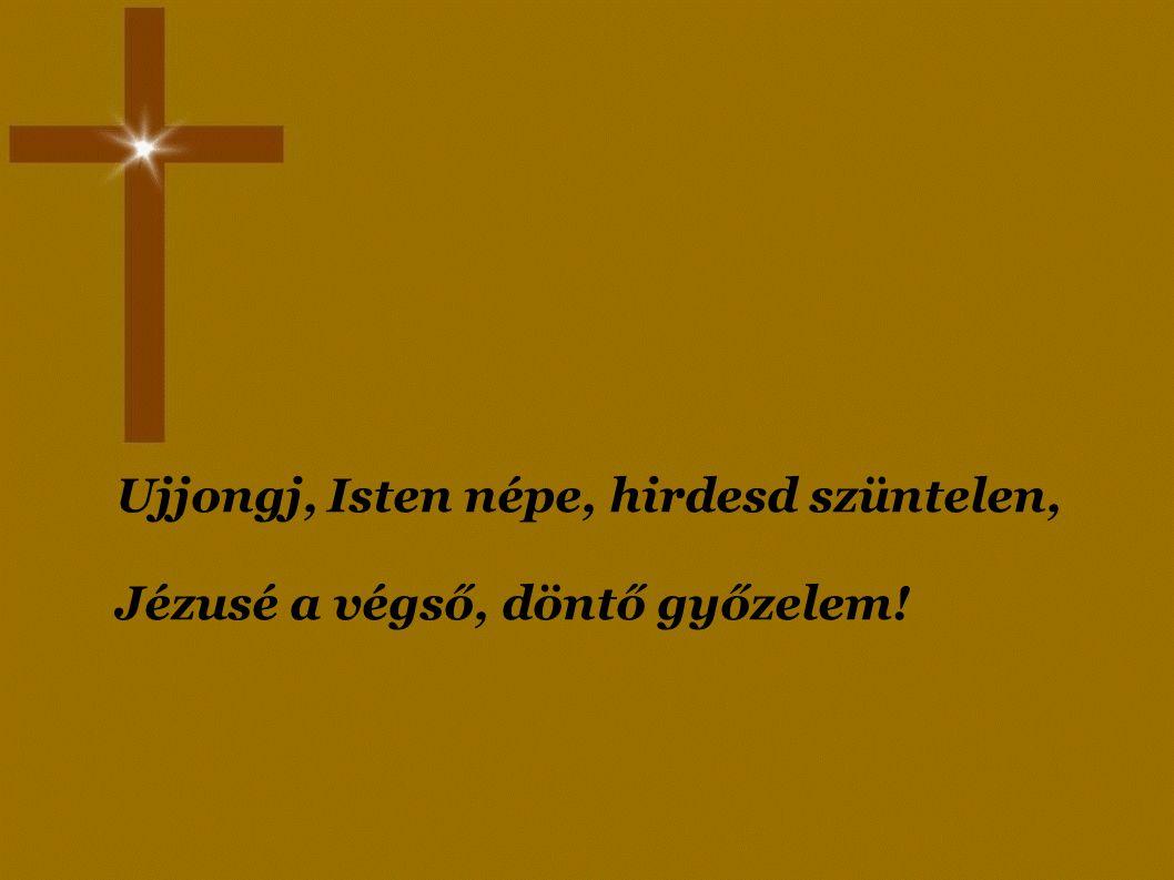 Lásd, ott az Jézus, az Üdvözítő! Ne kételkedj többé: ő jelent meg, ő!