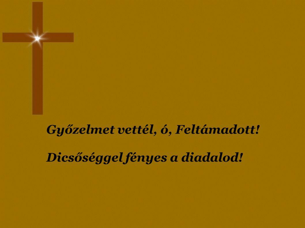 Ujjongj, Isten népe, hirdesd szüntelen, Jézusé a végső, döntő győzelem!