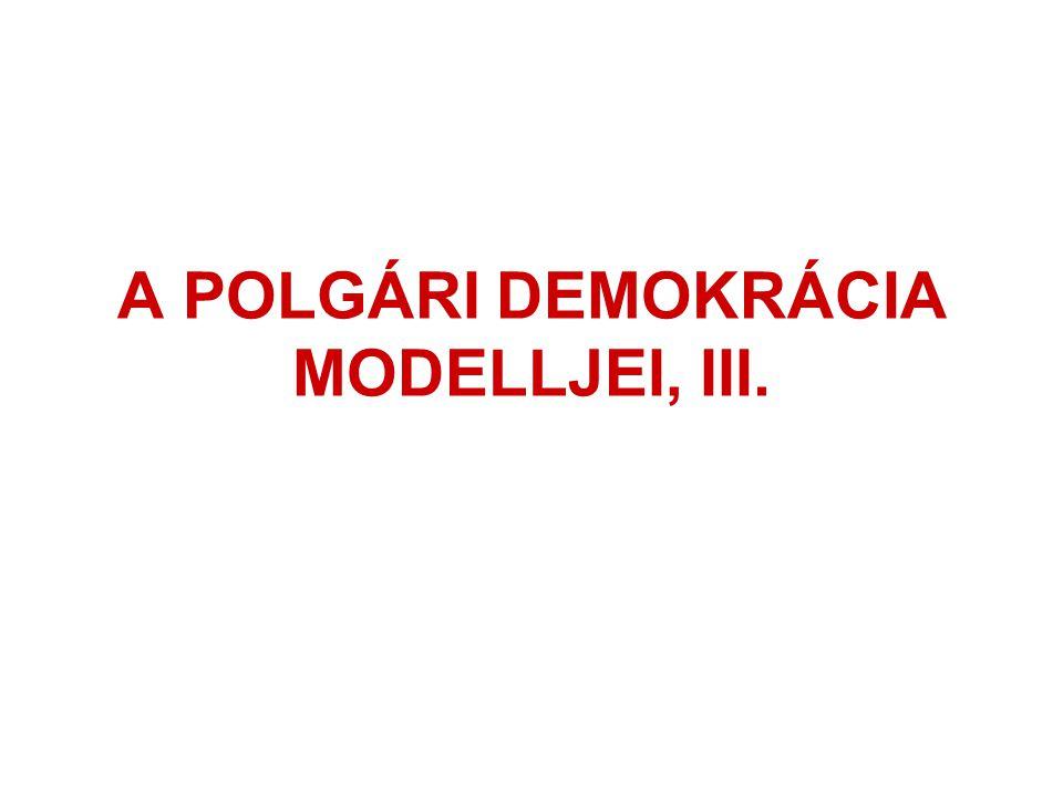 A POLGÁRI DEMOKRÁCIA MODELLJEI, III.