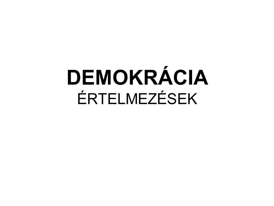 A demokrácia elméleti megközelítései Empírikus megoldások 1.