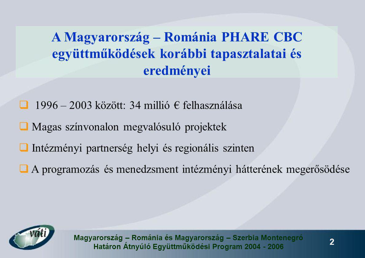 2  1996 – 2003 között: 34 millió € felhasználása  Magas színvonalon megvalósuló projektek  Intézményi partnerség helyi és regionális szinten  A pr