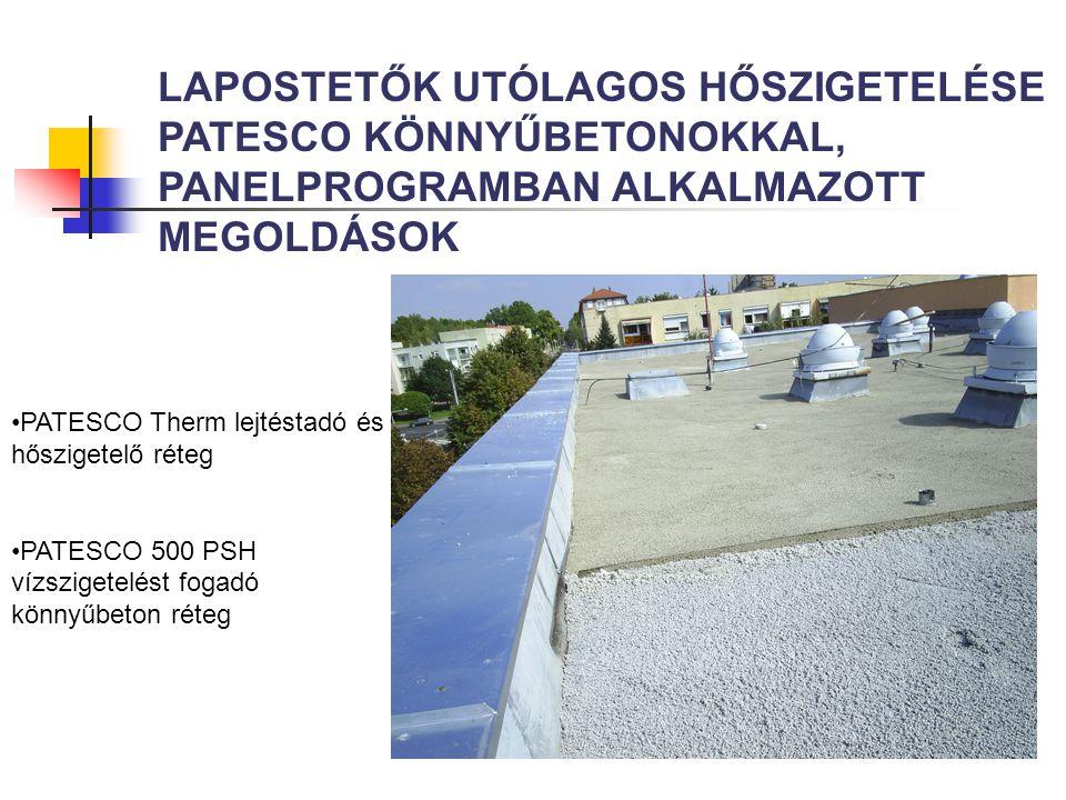 LAPOSTETŐ UTÓLAGOS SZIGETELÉS (PERFORÁLÁS)