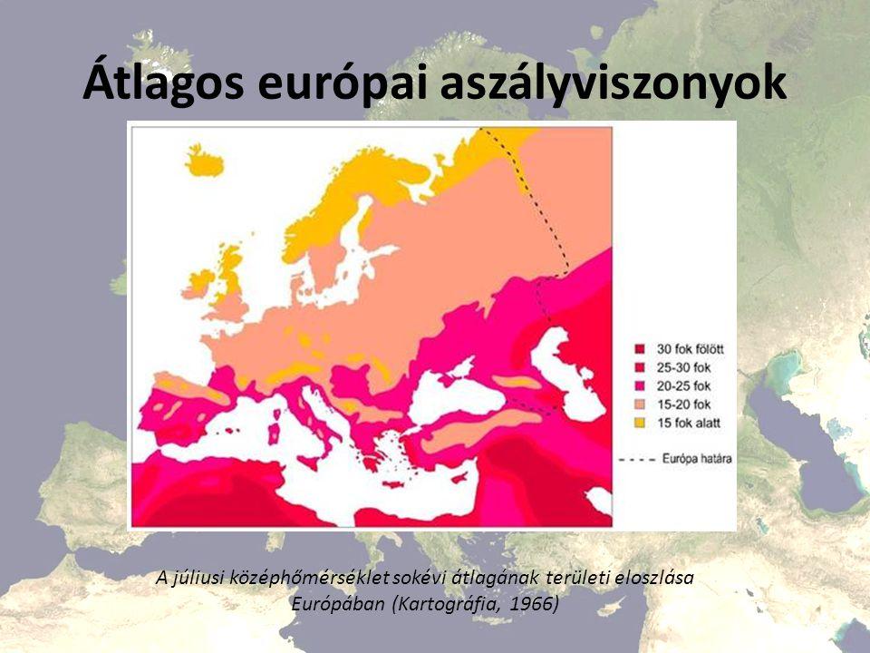 Átlagos európai aszályviszonyok A május 1-től október 31-ig terjedő időszak csapadékmennyiségének területi eloszlása Európában (Kartográfia, 1966)