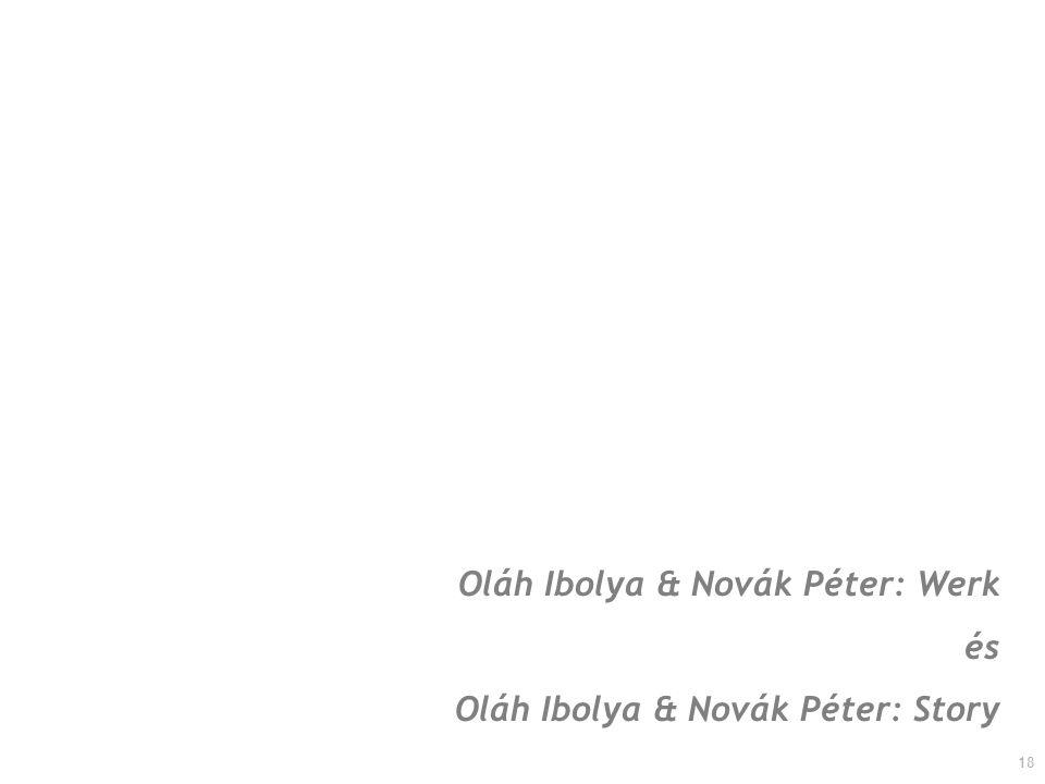 18 Oláh Ibolya & Novák Péter: Werk és Oláh Ibolya & Novák Péter: Story