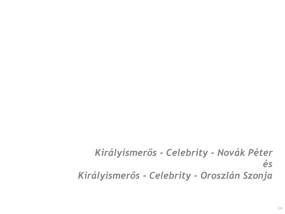 24 Királyismerős - Celebrity - Novák Péter és Királyismerős - Celebrity - Oroszlán Szonja