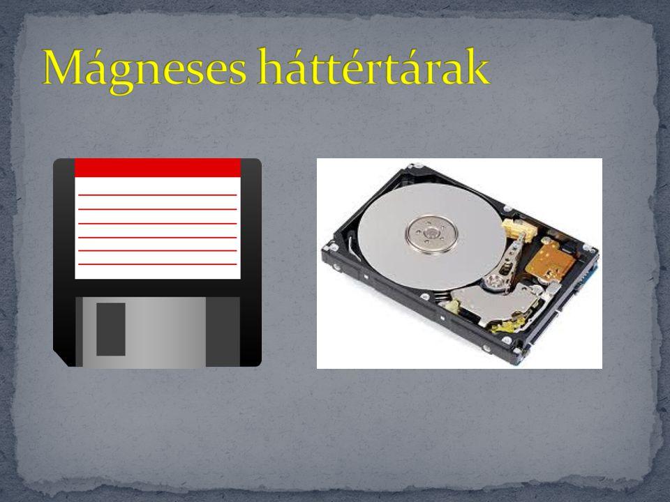 CD Kapacitása: 700 MB Műanyagkorong fémréteggel Fajtái: CD-ROM CD-R CD-RW Spirális adattárolás Kapacitása: 4,7 GB Műanyagkorong fémréteggel Fajtái: DVD-ROM DVD-R DVD-RW Spirális adattárolás DVD
