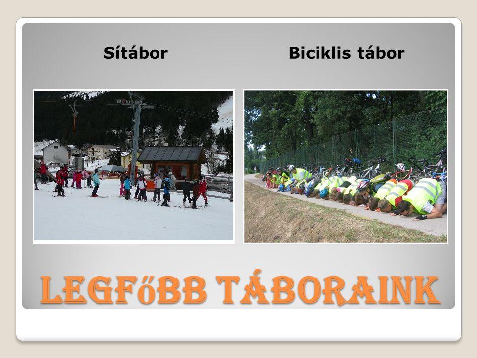 Legf ő bb táboraink SítáborBiciklis tábor