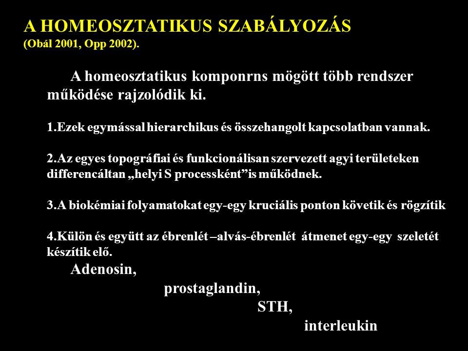 A HOMEOSZTATIKUS SZABÁLYOZÁS (Obál 2001, Opp 2002).