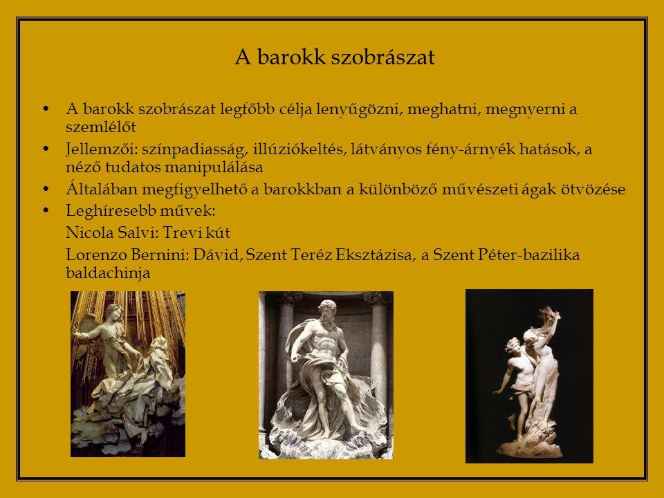 A 150 éves török uralom után a történelmi Magyarország terültén megnő a Habsburg-párti arisztokrácia szerepe a politikai és gazdasági életben egyaránt Az 1700-as évek elejéig alig folyt komoly építkezés az ország területén, de a század második felében megjelennek a grófok és hercegek kastélyai Mária Terézia uralkodása idején pezsdül fel igazán a művészeti élet; a világi és egyházi építkezések is megindulnak A barokk művészet Magyarországon