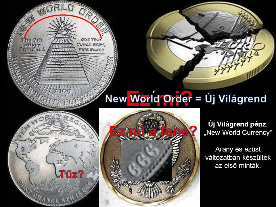 """Dimitry Medvedev G8 találkozó (2009) Új Világrend pénz. """"New World Currency"""" Arany és ezüst változatban készültek az első minták."""
