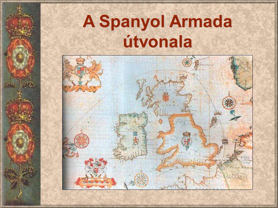A Spanyol Armada útvonala