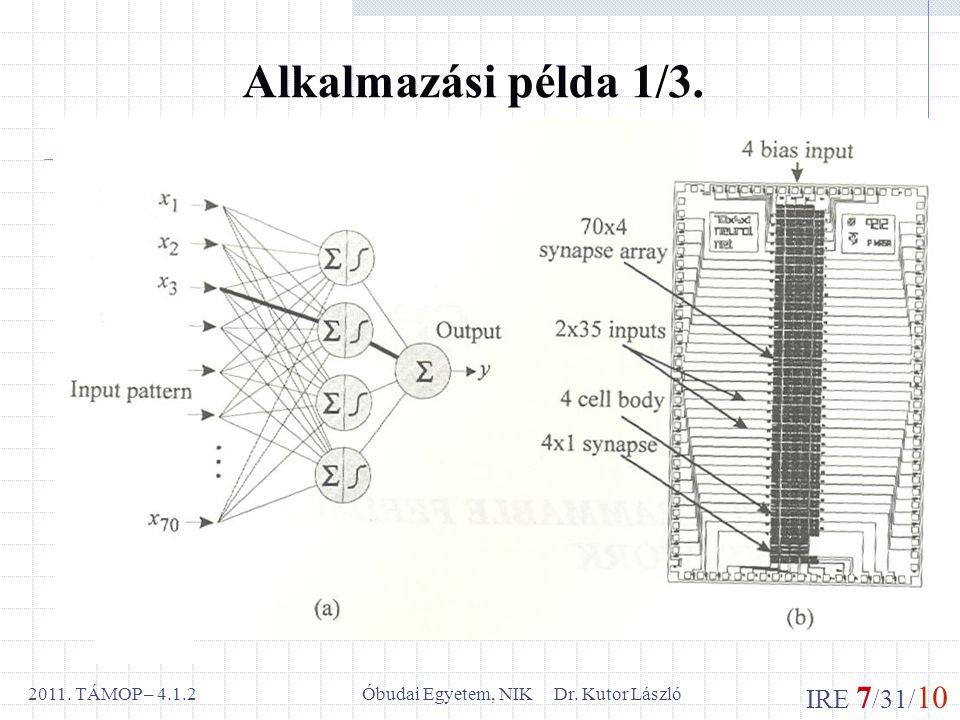 IRE 7 /31/ 10 Óbudai Egyetem, NIK Dr. Kutor László2011.
