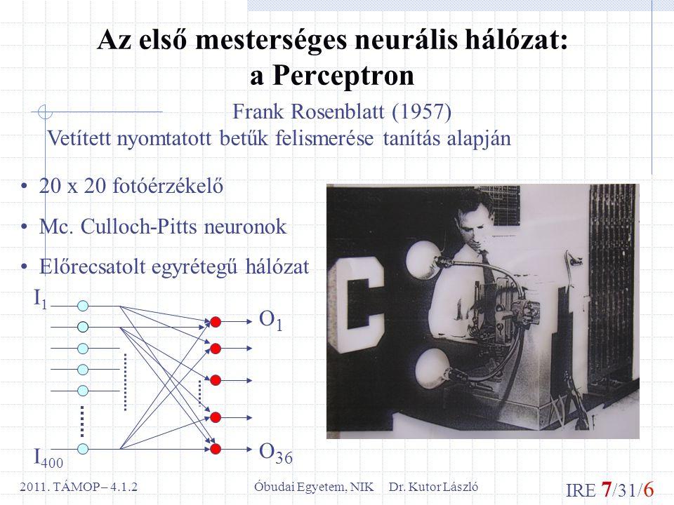 IRE 7 /31/ 6 Óbudai Egyetem, NIK Dr. Kutor László2011.