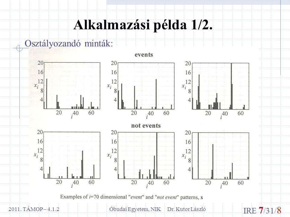 IRE 7 /31/ 8 Óbudai Egyetem, NIK Dr. Kutor László2011.