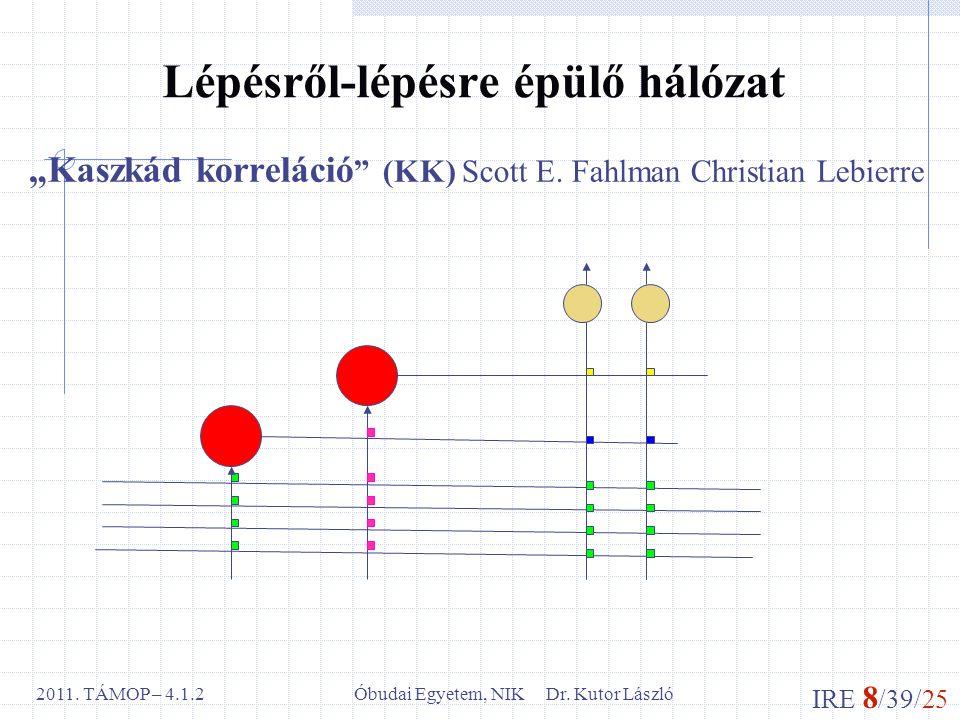 IRE 8 /39/25 Óbudai Egyetem, NIK Dr.Kutor László2011.