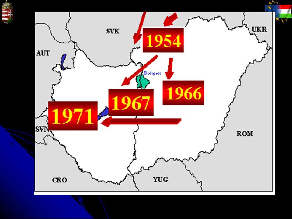 Rókák immunizálása 1992.ősz - 1996. tavasz: Ny-i határ, 5-6000 km 2 1996.