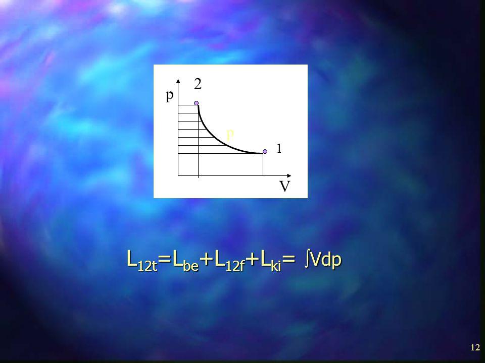 12 p p V 1 2 L 12t =L be +L 12f +L ki =  Vdp