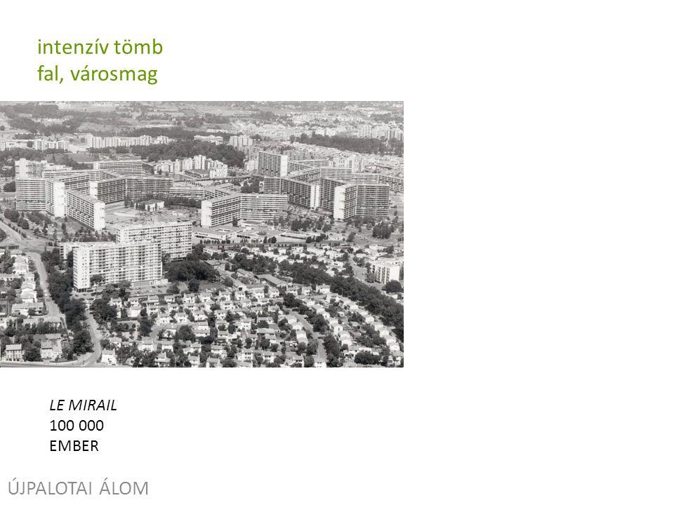 ÚJPALOTAI ÁLOM intenzív tömb fal, városmag LE MIRAIL 100 000 EMBER