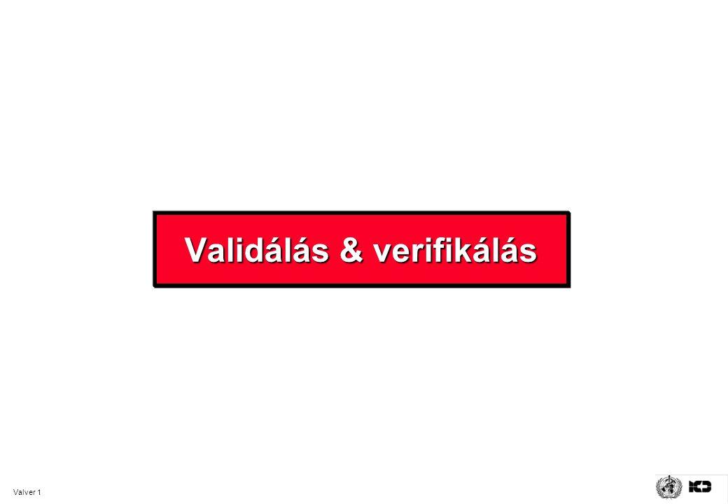 Valver 1 Validálás & verifikálás
