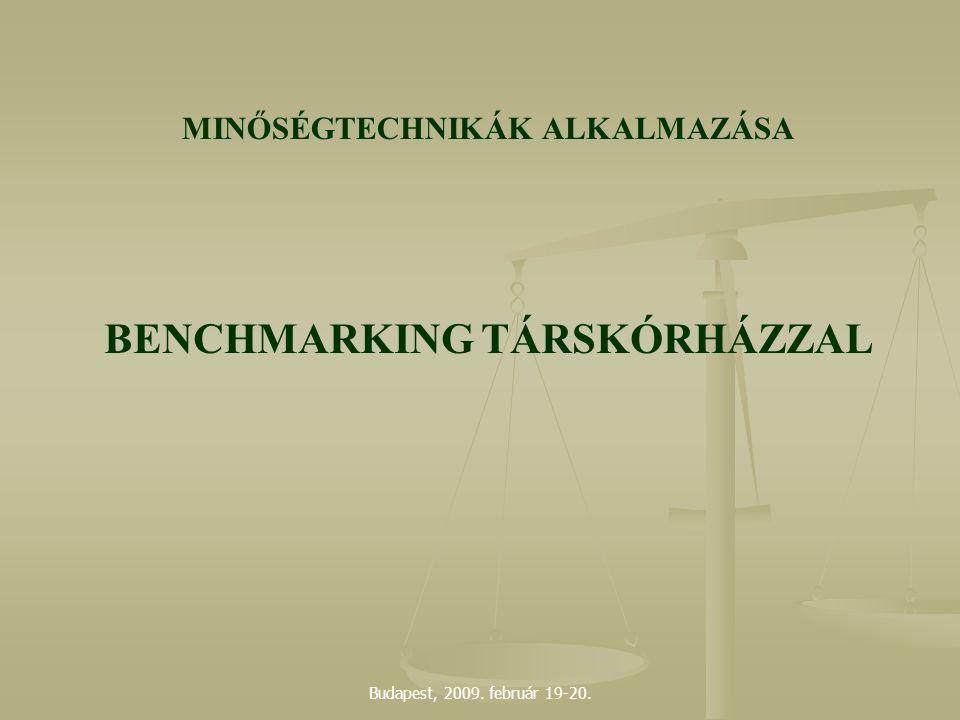 Budapest, 2009. február 19-20. MINŐSÉGTECHNIKÁK ALKALMAZÁSA BENCHMARKING TÁRSKÓRHÁZZAL