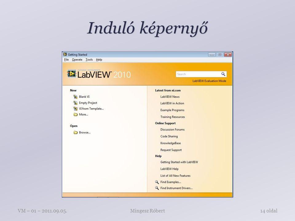 Induló képernyő Mingesz RóbertVM – 01 – 2011.09.05.14 oldal