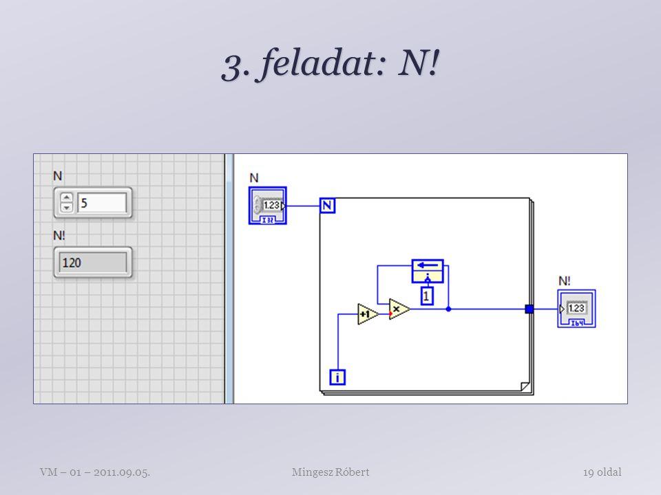 3. feladat: N! Mingesz RóbertVM – 01 – 2011.09.05.19 oldal