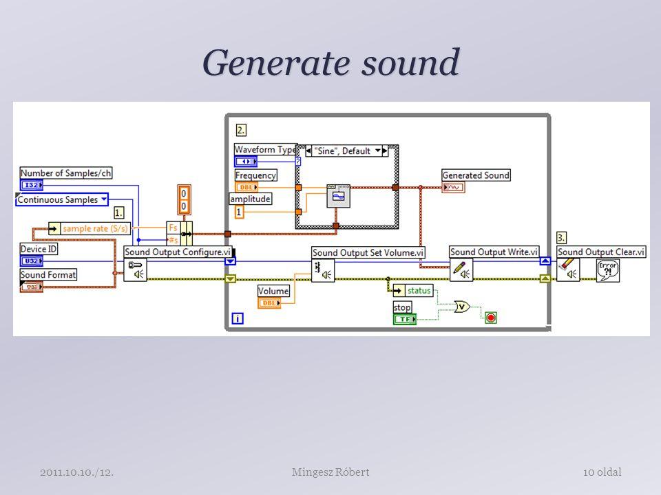 Generate sound Mingesz Róbert10 oldal2011.10.10./12.