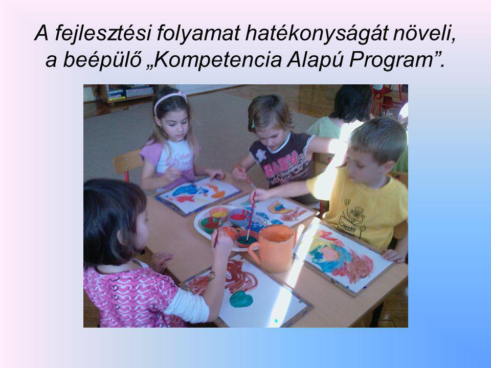 """A fejlesztési folyamat hatékonyságát növeli, a beépülő """"Kompetencia Alapú Program""""."""