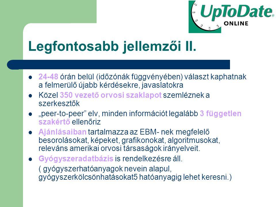 Elérhető www.uptodate.com/online