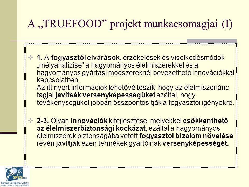 "A ""TRUEFOOD projekt munkacsomagjai (I)  1."