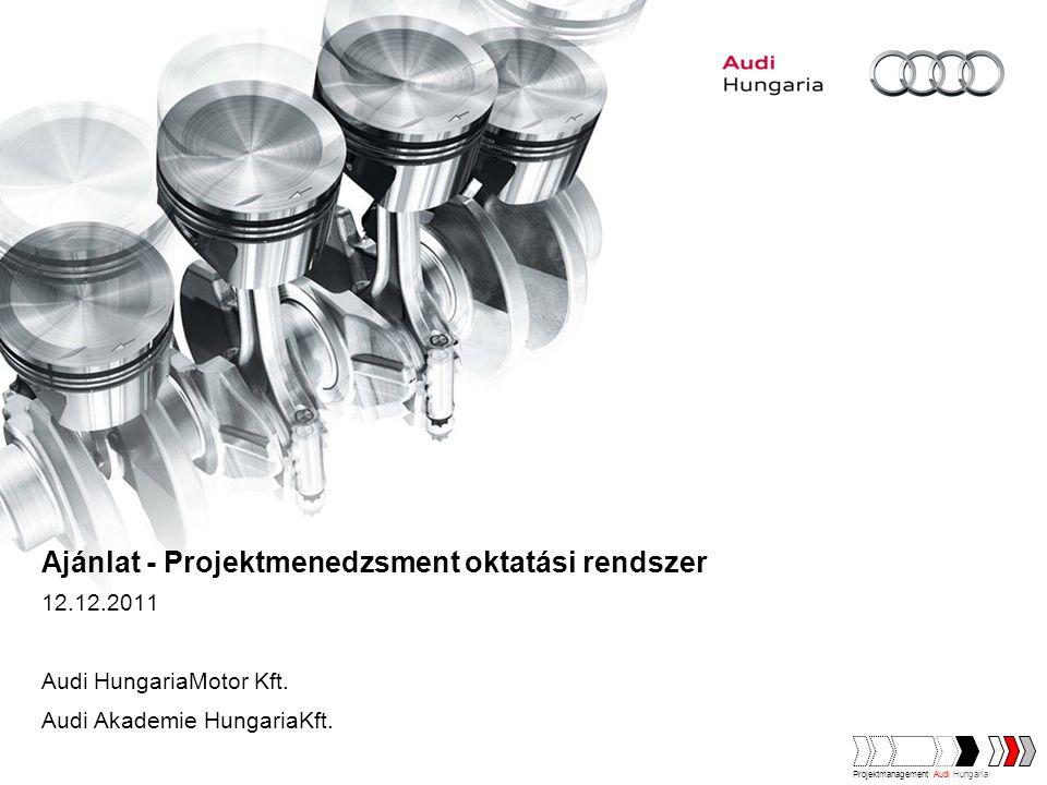 Ajánlat - Projektmenedzsment oktatási rendszer 12.12.2011 Audi HungariaMotor Kft.