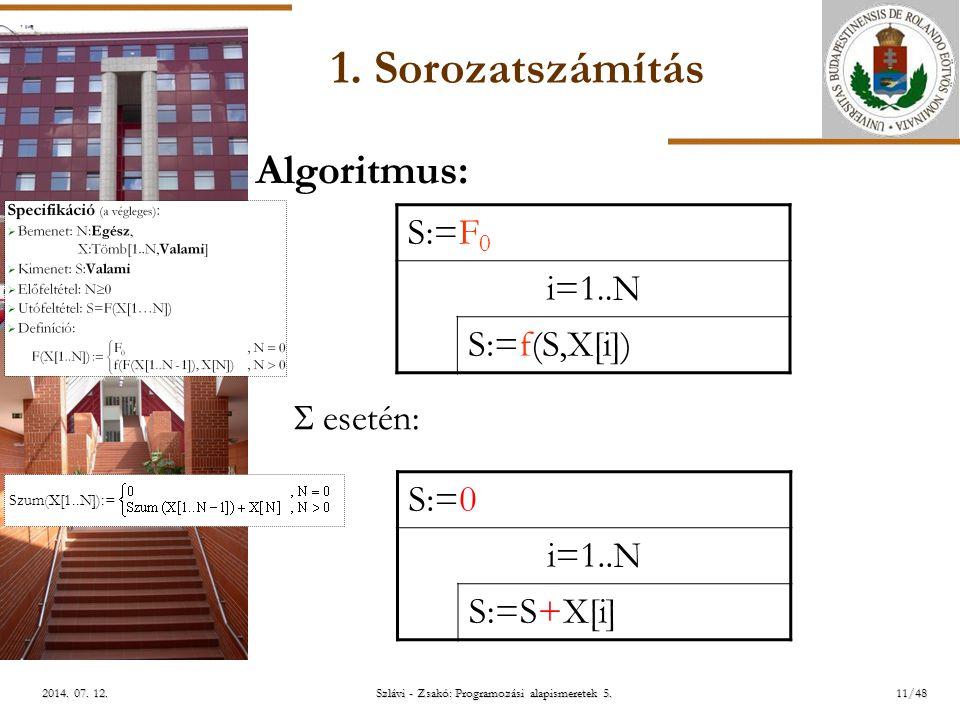 ELTE Szlávi - Zsakó: Programozási alapismeretek 5.11/482014.