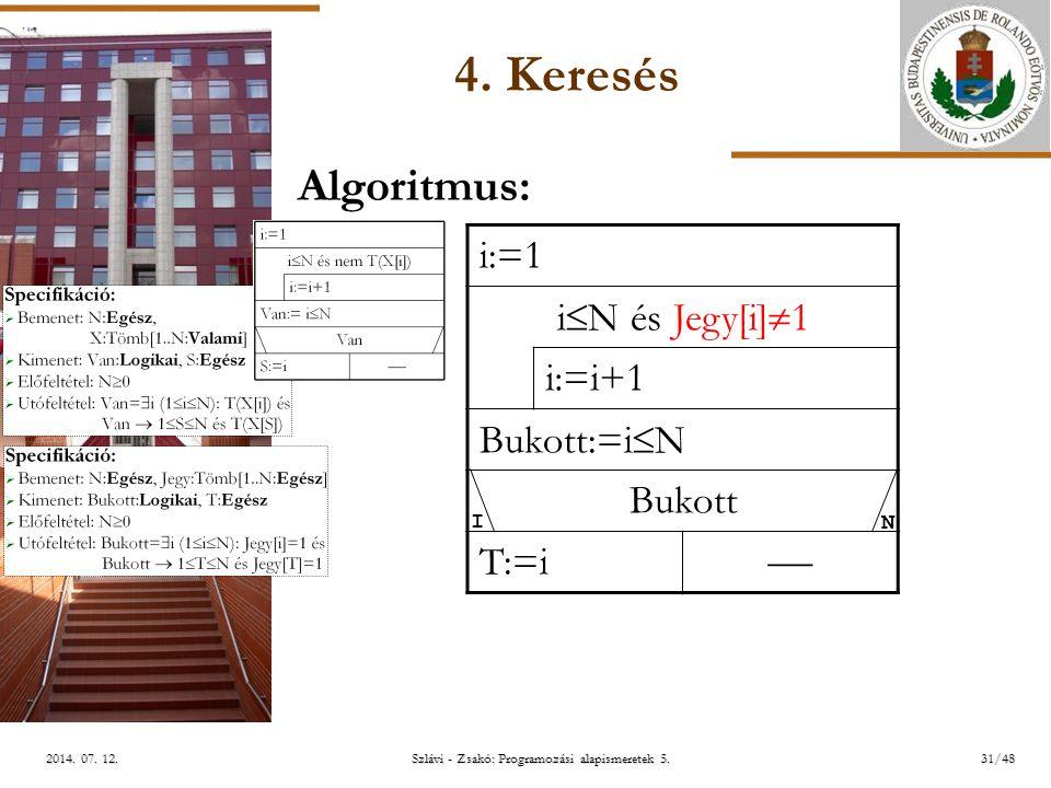 ELTE Szlávi - Zsakó: Programozási alapismeretek 5.31/482014.