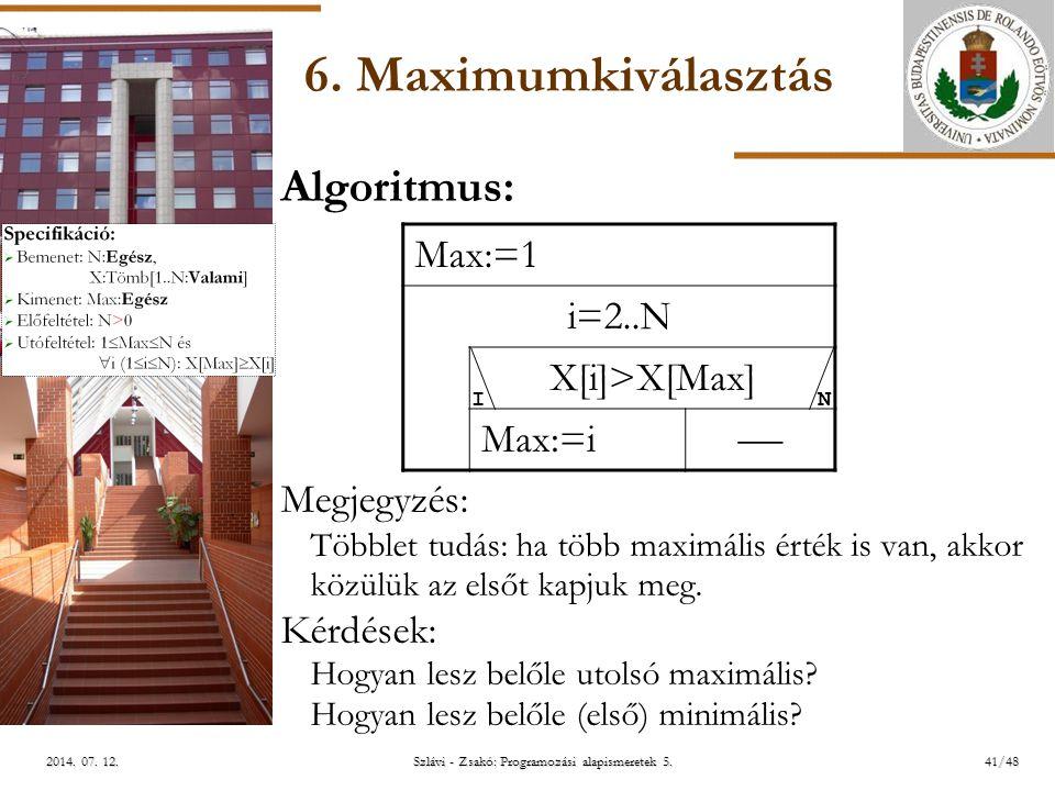 ELTE Szlávi - Zsakó: Programozási alapismeretek 5.41/482014.