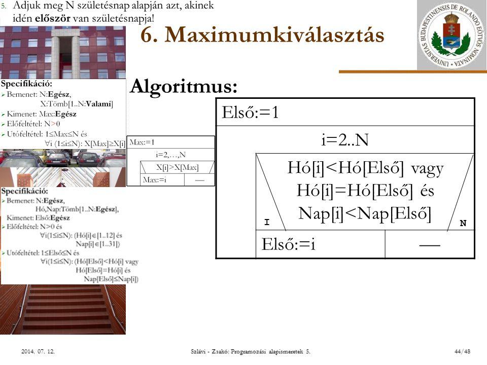 ELTE Szlávi - Zsakó: Programozási alapismeretek 5.44/482014.