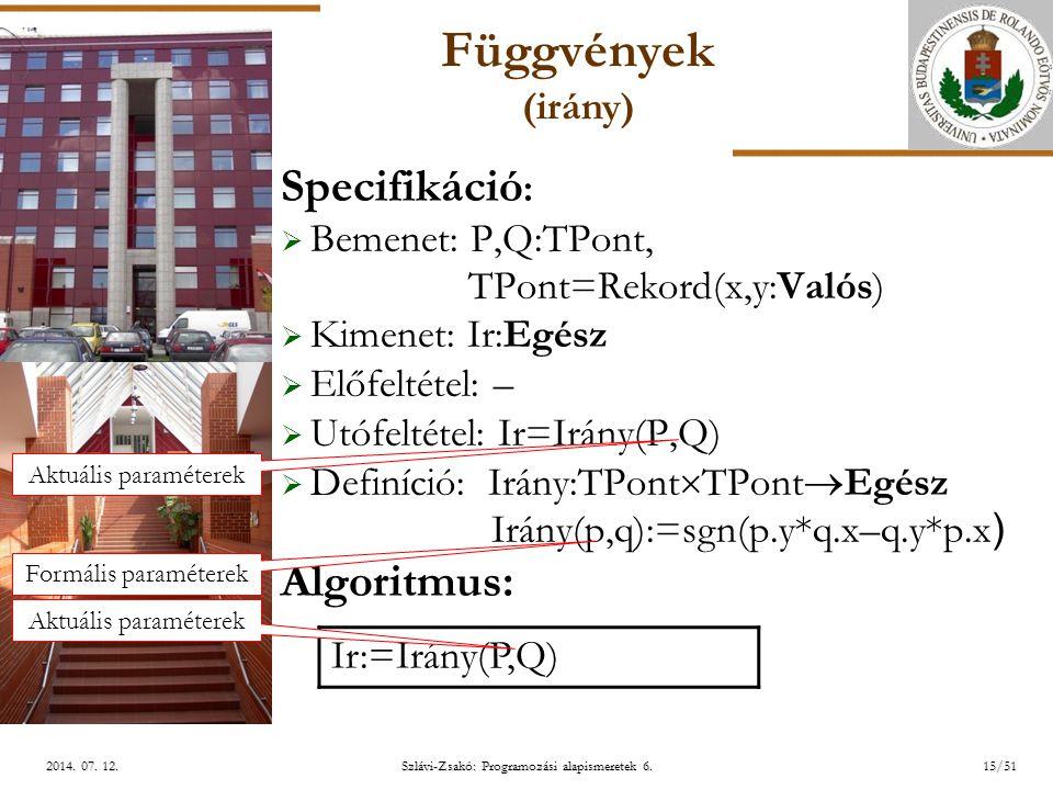 ELTE Szlávi-Zsakó: Programozási alapismeretek 6.15/512014.