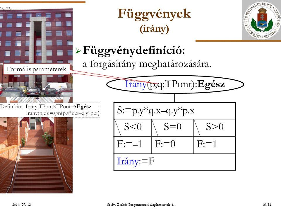 ELTE Szlávi-Zsakó: Programozási alapismeretek 6.16/512014.