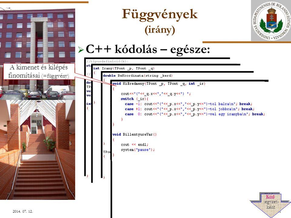 ELTE Szlávi-Zsakó: Programozási alapismeretek 6.21/512014.