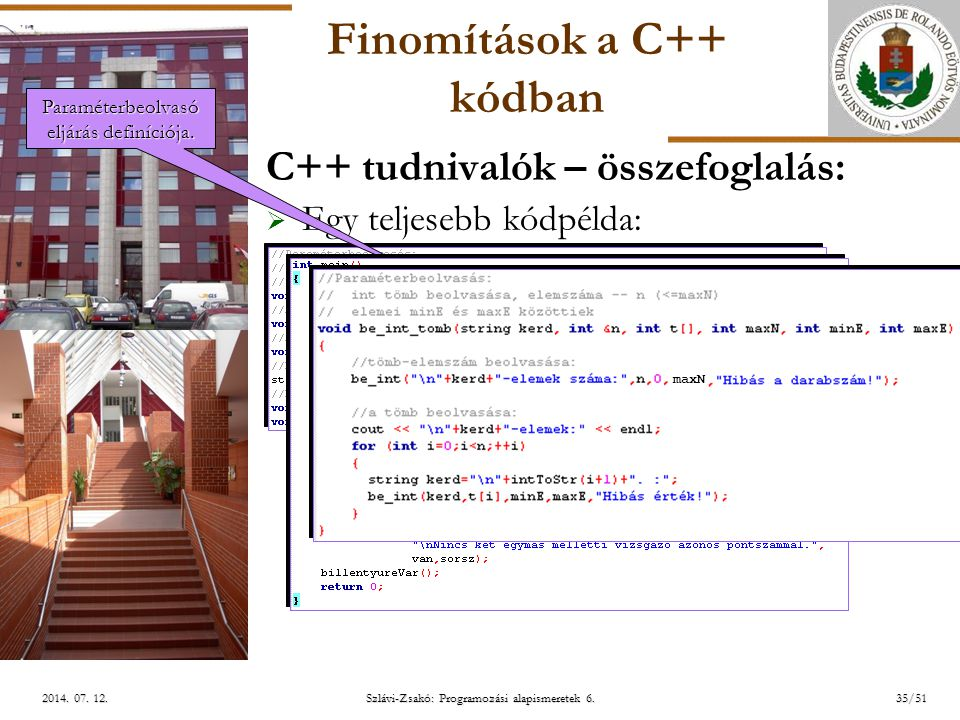 ELTE Szlávi-Zsakó: Programozási alapismeretek 6.35/512014.
